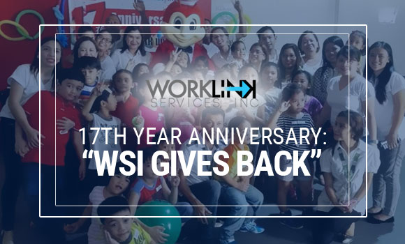 "WSI 17th Year Anniversary: ""WSI GIVES BACK"""